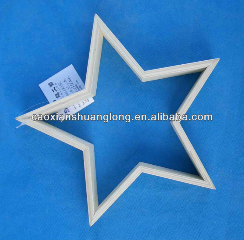 New Design Lighted Hanging Wooden Star for Sale