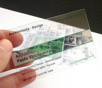 Custom Holographic Business Cards Transparent PVC Business Cards Invitation Cards