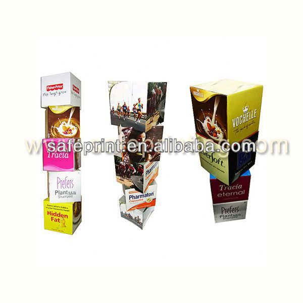 cardboard products advertising floor trade show display