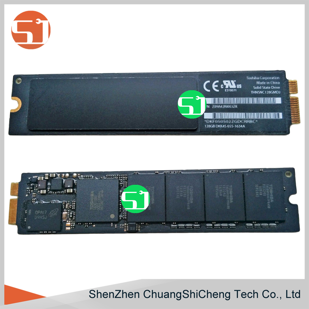 Original Tested Working for Macbook Air A1369 A1370 2010 2011 655-1634A Z09A42NKK3ZK 128GB SSD Solid State Drive