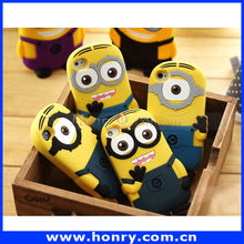 Despicable me minions cover for iphone 5 3d silicone soft case