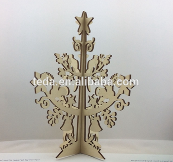 laser cut plywood tree for Christmas