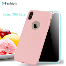 Warmly popular High quality Germany Bayer TPU case, Sweet candy colorful soft TPU case for iPhoneX