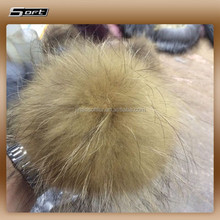 real raccoon fur pompons/ animal