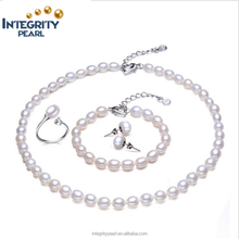 8-9mm AAA grade pearl freshwater cultured jewelry pearl set DP198