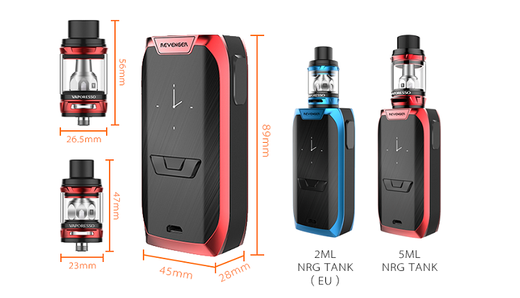 2017 Trending Hot Products Vaporesso Revenger Kit 220W Kit 220w Revenger TC Box Mod With NGR Tank