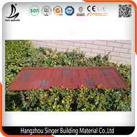 Decorative Stone Coated Metal Villa Roof Tile Building, Best Quality and Low Cost Construction Material