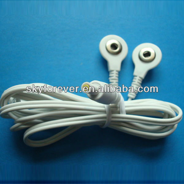 tens electric copper ecg lead wire/snap electrode lead wire