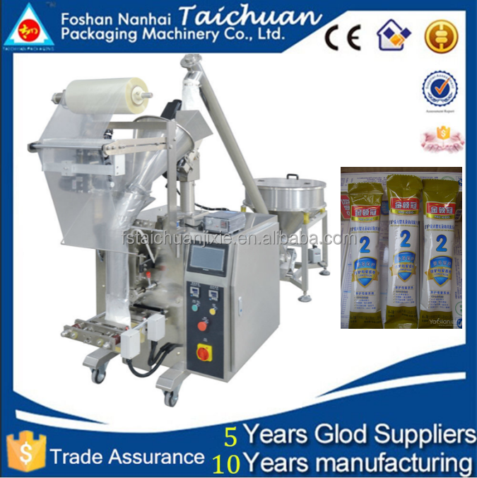 Flour filling machine/wash powder filling machine/sachet type 50g-100g detergent powder packing machine