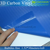 Dark blue carbon fiber vinyl film/self-adhesive sticker for car body paint protection