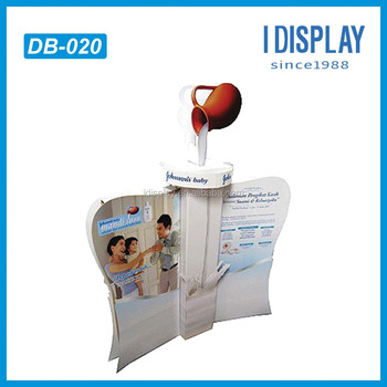 new product baby milk advertise standee body cream display stand