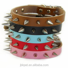 Cheap Price Dog Collar Leather Metal Rivet Spiked Studded Pet Collar