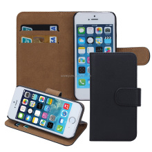 Factory price plain wallet leather case for iphone 5