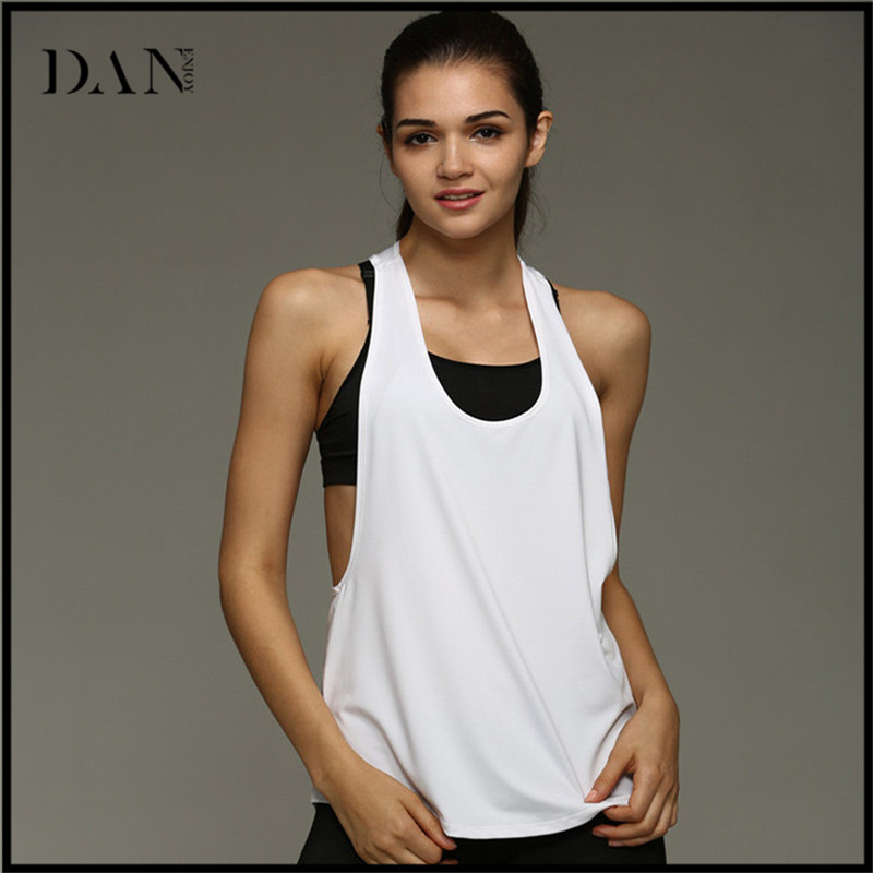 Simple Fashion Yoga Tops Women's Fitness Sportswear Gym Clothes Sports Shirt Running Vest
