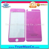 Made in China Silk Printing Glitter Powder Tempered Glass Screen Protector For iPhone 5S/6/6Plus