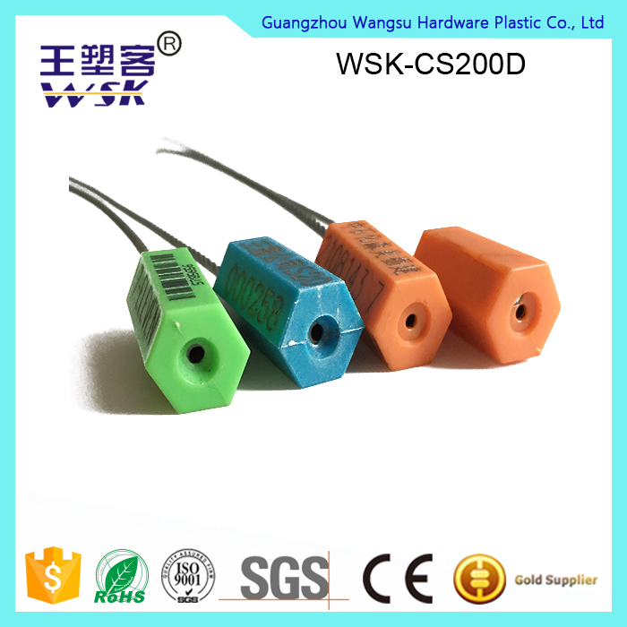 Guangzhou cable seal factory directly sale security pull tight cable seal for luggage