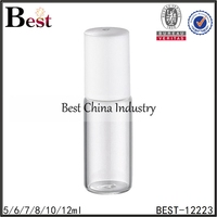 3ml 5ml clear perfume roll on bottle stainless steel roller