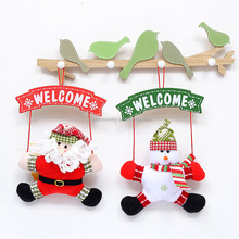 Christmas Snowman Hang Party Door Decor The door Christmas Wreath Decorations For Tree adornos navidad 2017