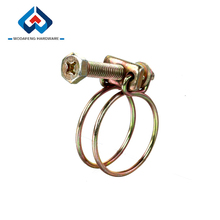 Double Wire Vibration-proof pipe hose clamp