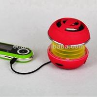 2014 built-in light battery Hamburger portable USB small PC stereo bookshelf cheaper outdoor laptop speaker OME PS-00029