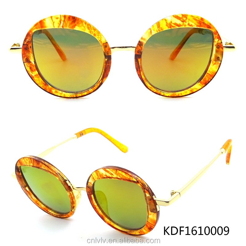 FJ brand fashionable full frame sun glasses sunglasses 2017 new Korean retro wholesale metal fashion sunglasses