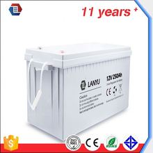 cheap price 12v 200a gel battery 12v 250ah solar battery for india market import from china