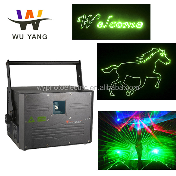 Wuyang 1000mw Green Animation Laser Light,Disco DJ Home Laser Show green beam laser level