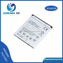 OEM Factory Price High Quality Mobile Phone Battery For Sony Ericsson Arc / BA750 1500mAh