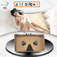 V1 Google Cardboard Virtual Reality 3d converter with polarized glasses,deepoon vr 3d glasses paper