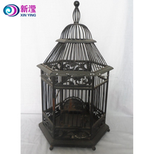 2018 Handmade birdcage deluxe vintage victorian style dome top square wire antique small bird cages