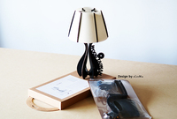 slim packaged white wooden led table lamp
