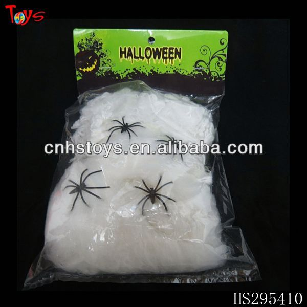 various weight for choice cotton spider web with small plastic spider