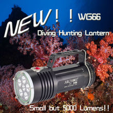 ARCHON 5 led 5000lumens New Design Diving Flashlight, Diving Lantern, Underwater Hunting Light WG66