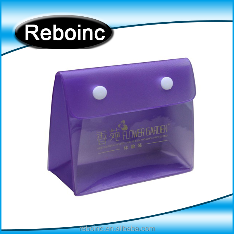 Reboinc-X16 High quality Cosmetic toliery pvc button bag for promotion