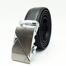1.3 inch Wholesae cheap western designer mens black automatic buckle leather work belt