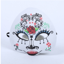 Hot sale plastic costume party beautiful rose dame half face mask JIM-242