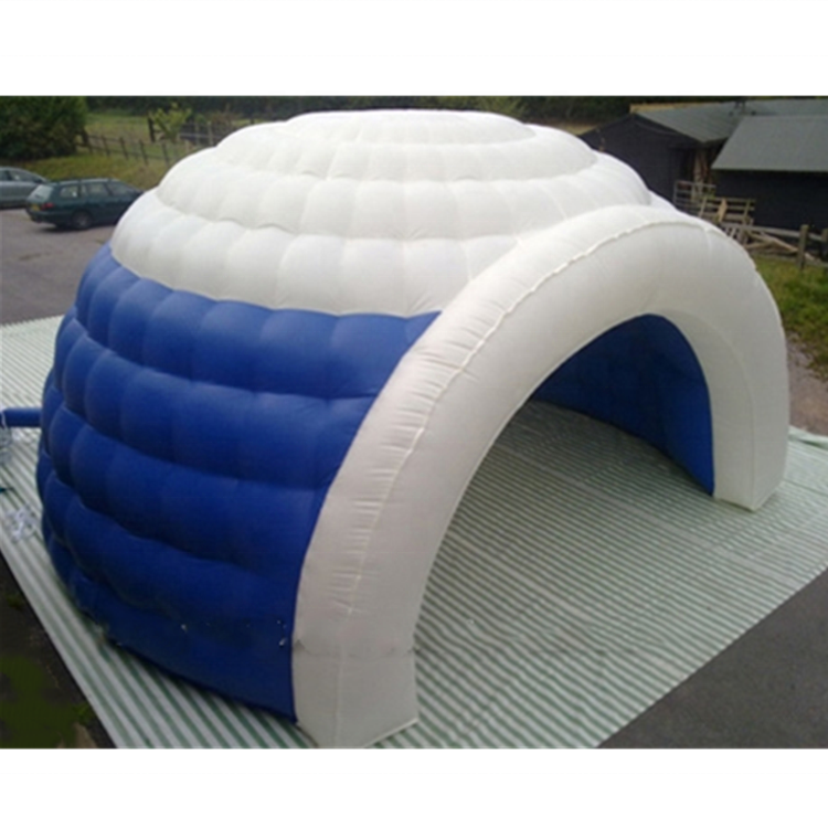 China KR Blue and White airtight inflatable large for big events tent environmental protection PVC inflatable tent on sale