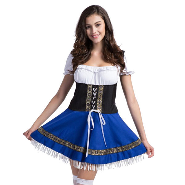 Free Shipping Hot Selling Adult Oktoberfest Beer Costumes Maid Temptation Lingerie Sexy Beer Costumes