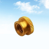 Custom CNC Precision Machining Brass End Cap With Knurling