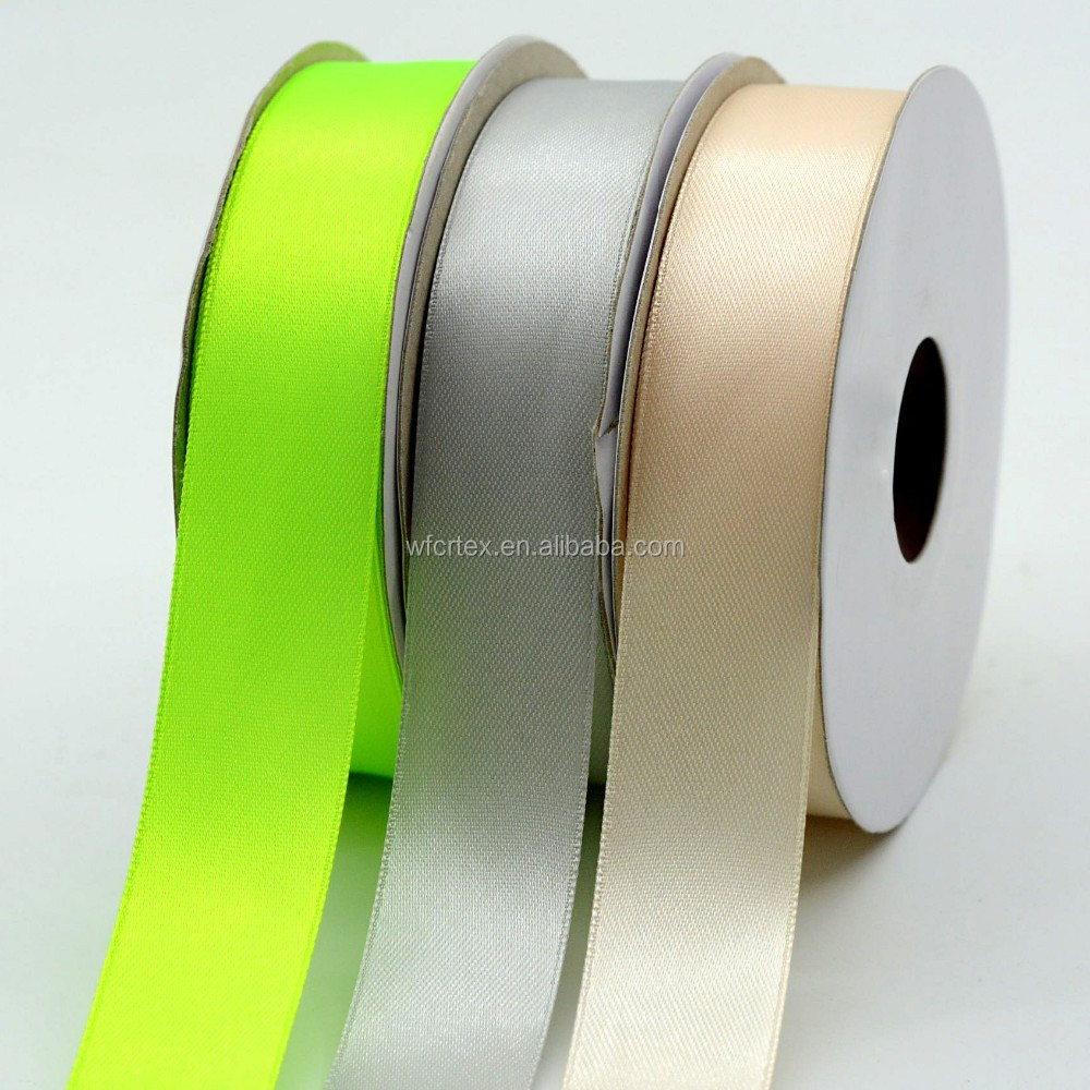 white single face woven satin ribbon wholesale for label printing