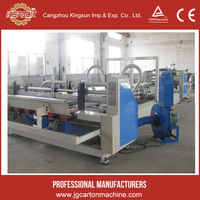 carton box folder gluer machine/ fold box glue machine for corrugated board