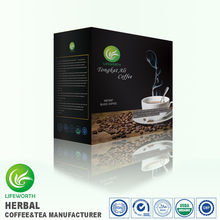 Factory price black coffee powder malaysia instant tongkat ali coffee with free samples