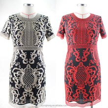 Hot selling Southeast Asia North America high-end own design embroidery women dress