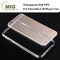 Wholesale Ultra Thin Transparent Clear Slim Soft TPU Cell Phone Case For apple iphone 7