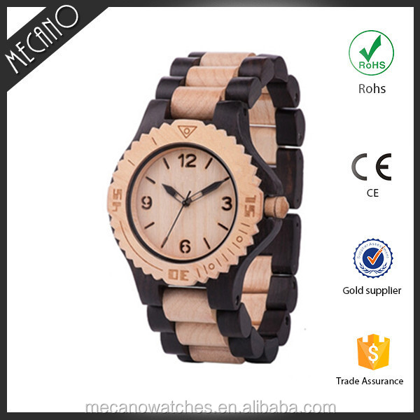 Eco-friendly Wood Watch HK Designer's OEM Mens Wrist Watch Japan Movt Western Watches Private Label