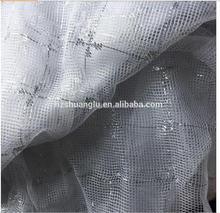 chinese supplier polyester tricot textile swiss lace fabric curtain