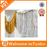Tinsel Gold Metallic foil curtains for party decoration