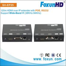 SX-EP25 1080p hdmi Transmitter Receiver with poe hdmi video extender support wide-band IR