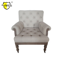 CLU16213 Antique living room furniture Oak french style wooden frame modern sofa chair