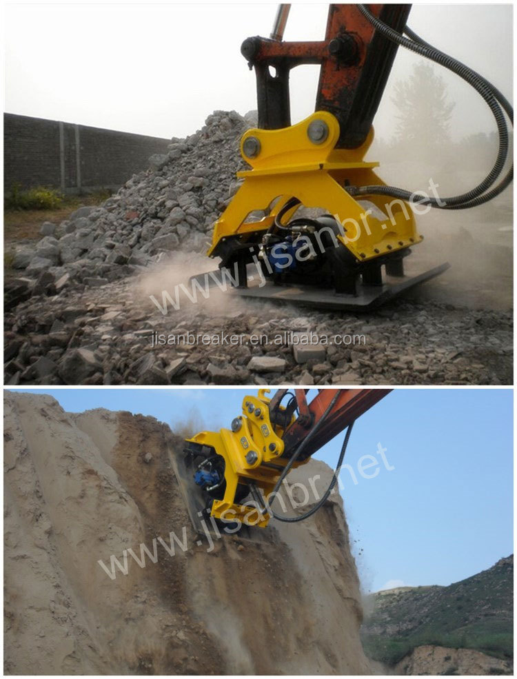 China super quality high technology 1.5-30 Ton excavator hydraulic vibration plate compactor
